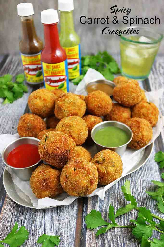Spicy Carrot Spinach Croquettes