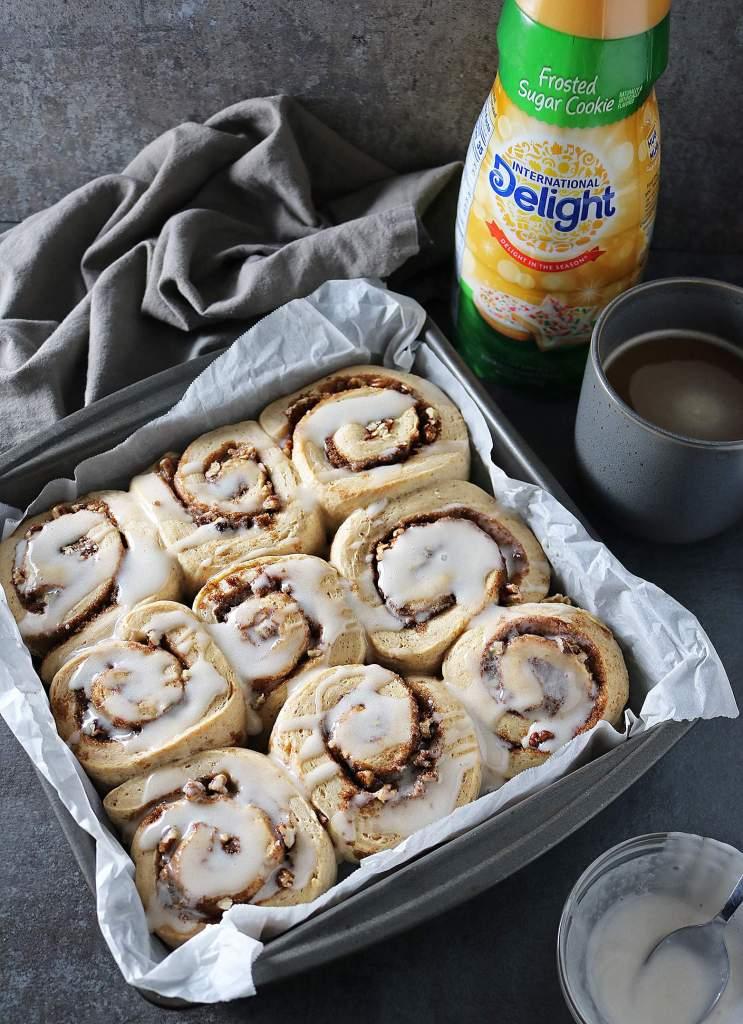 Cinnamon Rolls With Yeast And International Delight® Coffee Creamer