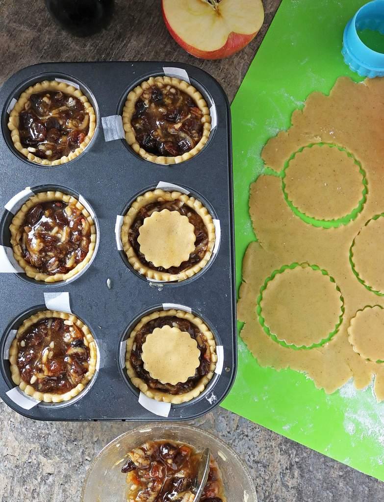 Mincemeat Apple Pies Prep
