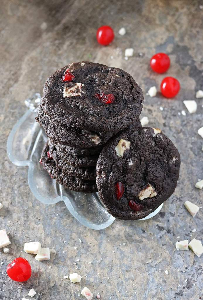 Peppermint Cherry Chocolate Cookies for Kids' Cancer