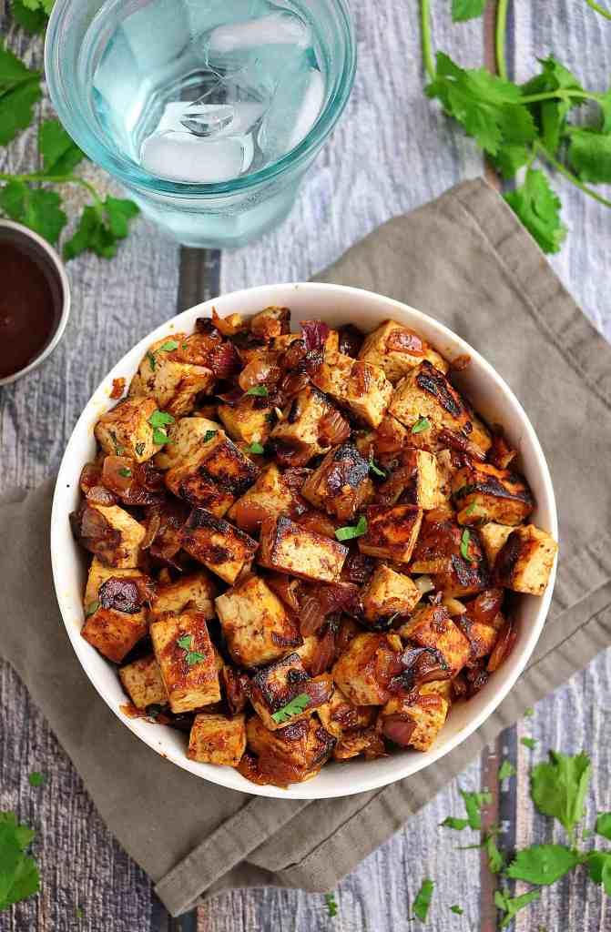 Easy Honey BBQ Tofu