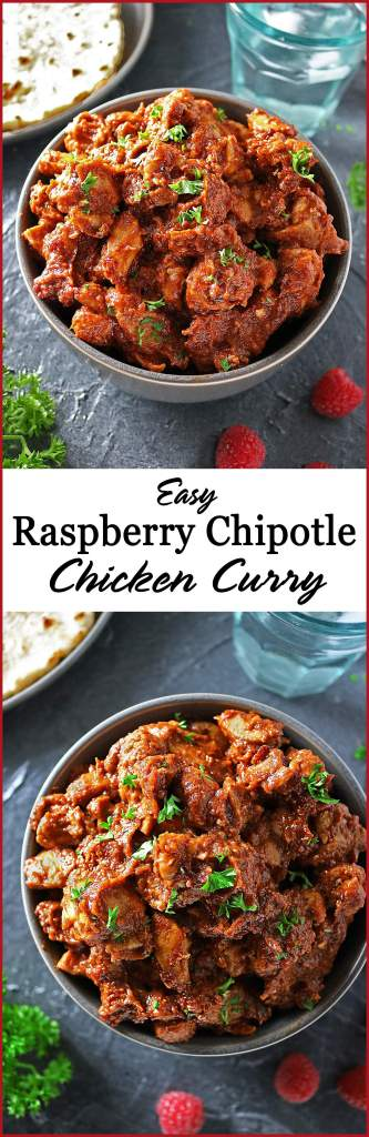 Easy Raspberry Chipotle Chicken Curry for Valentine's Dinner maybe?