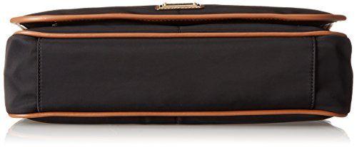 bottom view of the CK Dressy Nylon Messenger Bag