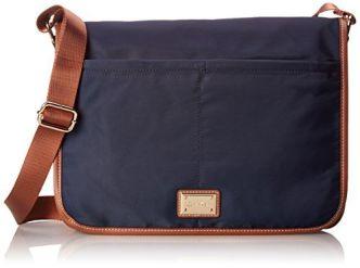CK Dressy Nylon Messenger Bag - Navy
