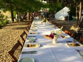 the table is set for long table dinners - photo - Karen Anderson