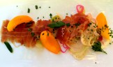Shaved fennel, Okanagan apricots and house-cured proscuitto photo - Karen Anderson