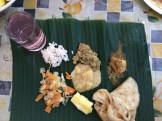 banan leaf thali at Mr. Abraham's - photo - Karen Anderson