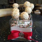 chef Sabine Gradauer's cake pop centrepiece - photo - Karen Anderson