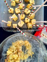 Cake pops done and yummy looking leftover bits - photo - Karen Anderson