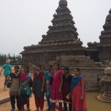 We aren't the only tourists to the Beach Temple in Mahallapuram, Tamilnadu - photo - Karen Anderson
