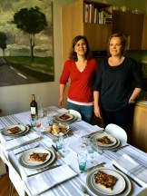 the first course and a welcoming table - photo - Karen Anderson