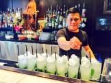 """Bartender Urban and his """"El Mojito"""" at Ox and Angela, Calgary - photo - Karen Anderson"""