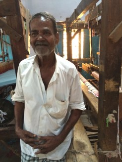 Elder weaver in Madurai, India - photo credit - Karen Anderson