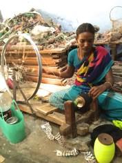 cotton spinner in Madurai, India - photo credit - Karen Anderson