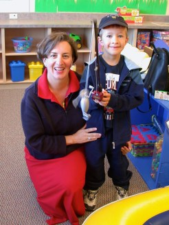 teaching kids to cook - Karen Anderson and her son Cole