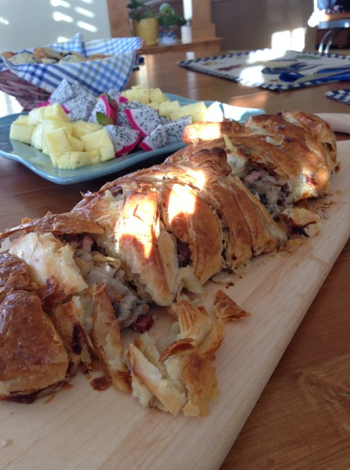 This chicken sausage roll might be just the thing for Easter Brunch
