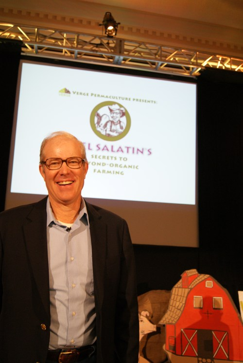Joel Salatin at the #UCanFarm workshop in High River Alberta