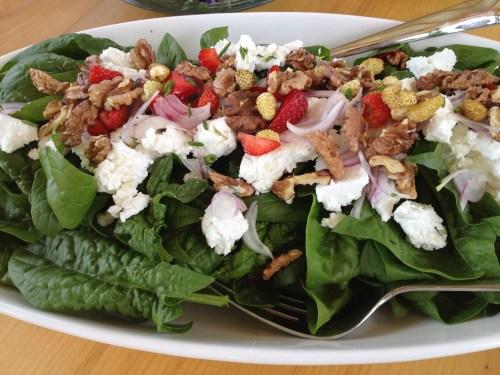 Salad from the garden at Sunshine Farm, Kelowna, BC