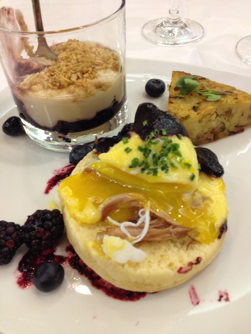 Duck confit with duck egg Benedict