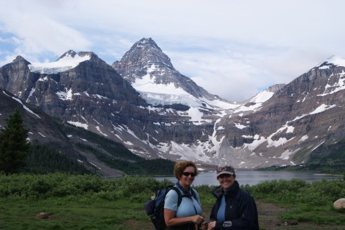 Ready to go again - Day 2 Mt. Assiniboine - Ladies hike 15 k - Windy Ridge