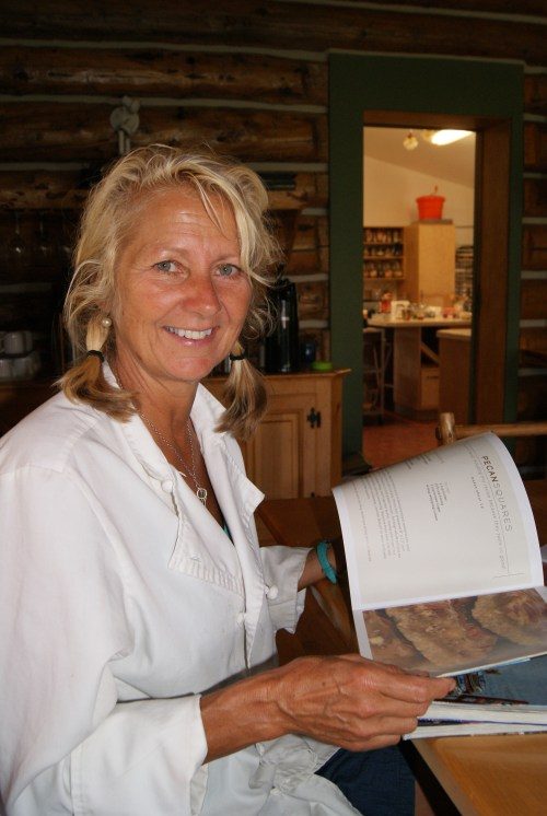 When she is not cooking at Mt. Assiniboine Lodge, Marianne Abraham acts as food editor for her friend Shelley Adam's hugely successful Whitewater Cooks series photo - Karen Anderson