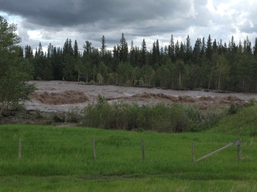 a very angry river flowed with a wide swath through Calgary in June 2013 resulting in the most damage the city has ever sustained photo - Karen Anderson