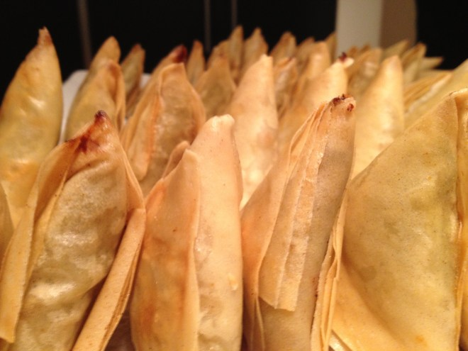 I've been making samosas for many years but you can buy really good ones to surprise and delight your guests photo - Karen Anderson