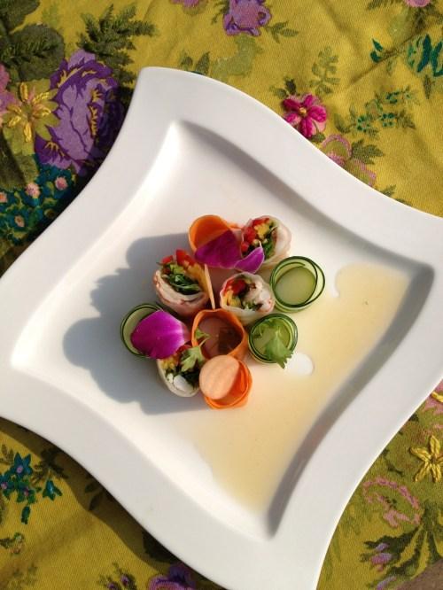 Chef Duncan Ly's Vietnamese Pork Salad Rolls made with Spragg's pork photo - Karen Anderson