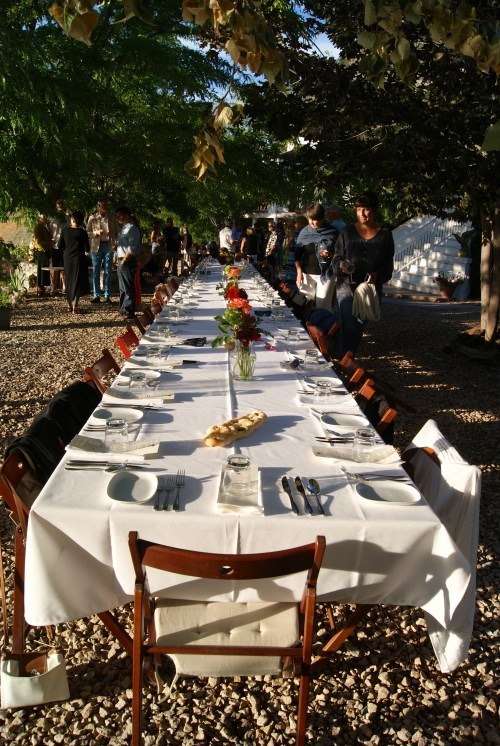 Dappled sunlight at day's end signals time for a Joy Road Al Fresco dinner  photo - Karen Anderson