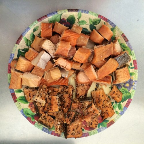 Smoked salmon are on the menu for Skipper Otto's CSF subscribers photo - Karen Anderson