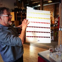 Colour theory explained on our Palette to Palate tour by Metrovino Wines' Richard Harvey photo - Karen Anderson