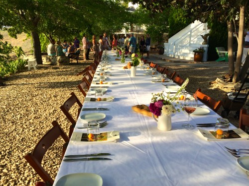 the table is set for a season of long table dinners - photo - Karen Anderson