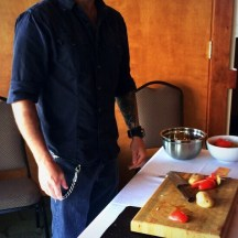 My friend Mark Puttick doing a demo at the Okanagan Food and Wine Writer's Workshop - photo - Karen Anderson