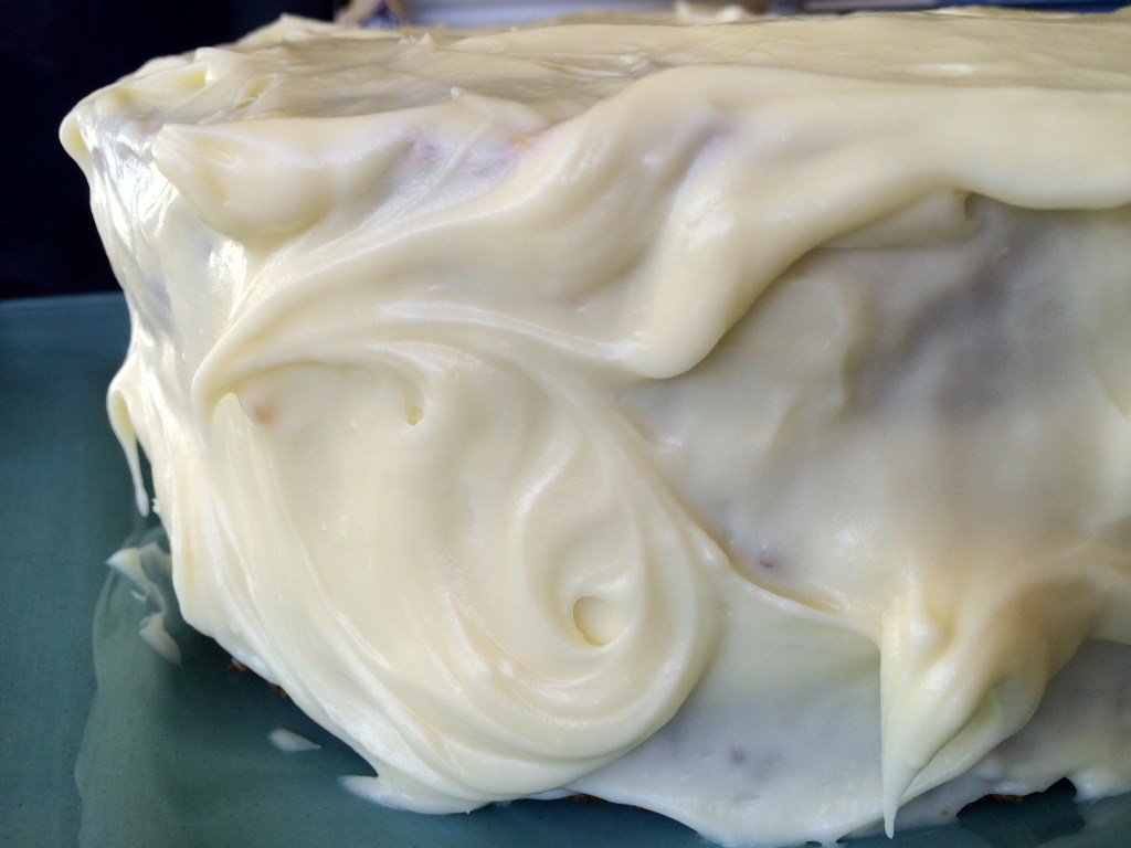 Aunty Muriel's Farmhouse Carrot Cake - icing close up