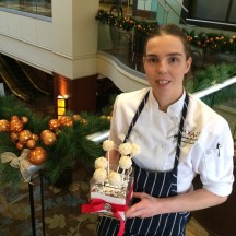 chef Gradauer is getting ready to welcome 800 guests to the Calgary Hyatt Regency's Christmas Day brunch - photo - Karen Anderson