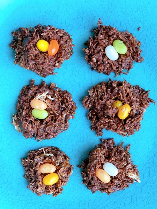 Robin's Nest Cookies - overhead photo