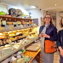 shopping for fresh cheeses - photo - Karen Anderson