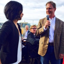 Christina Mah of Raw Bar by Duncan Ly with David Farran of Eau Claire Distillery - photo - Karen Anderson