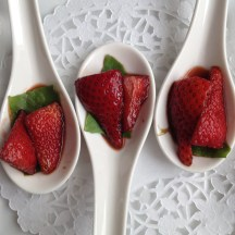 strawberries and balsamic - photo - Karen Anderson