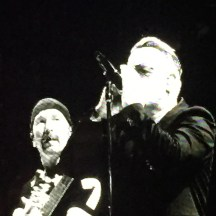 The Edge and Bono - photo - Karen Anderson