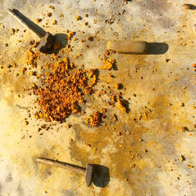 Turmeric and tools - photo credit - Karen Anderson