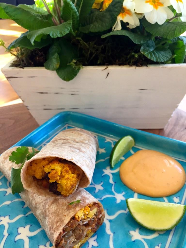 cauliflower and lentil wrap - #pulsepledge - #IYP2016 - @savouritall