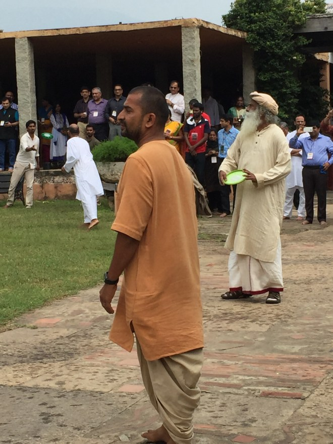 Sadhguru at home at ISHA foundation in Coimbatore, India