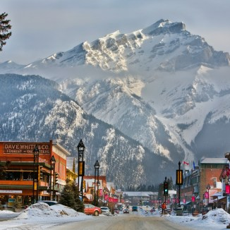 Banff Ave in Winter