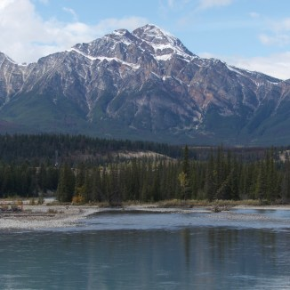 Pyramid mountain in Jasper
