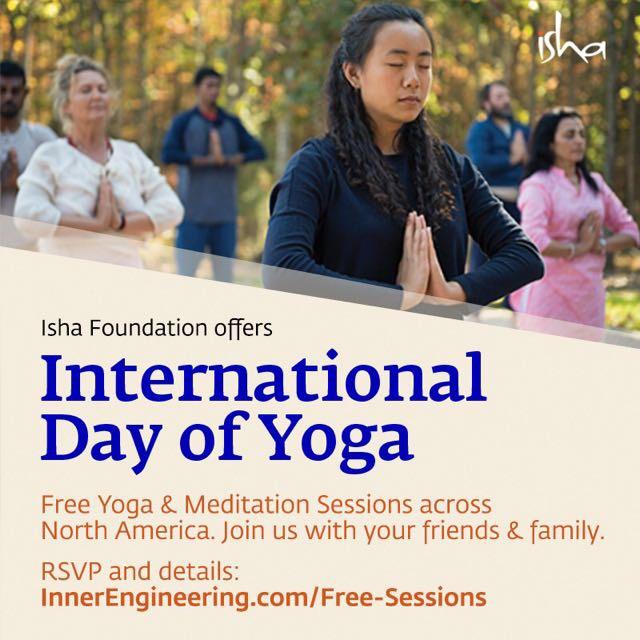 International Day of Yoga - Isha Free Offerings