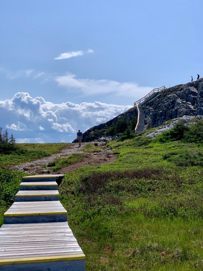 Stairs to Brimstone Head - photo by Karen Anderson