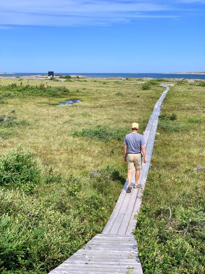 500 meter boardwalk to Tower Studio on Fogo Island, NL