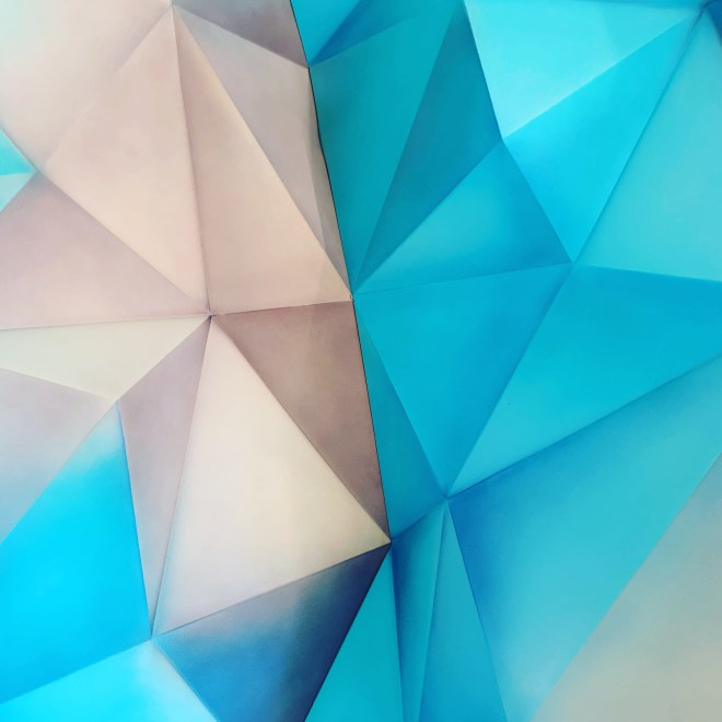 prism of beige and blue