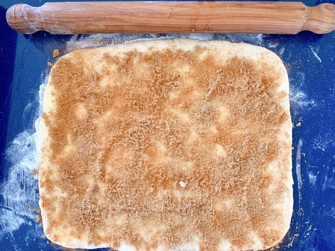 Hermione Sweet Sourdough Cinnamon Rolls rolled out